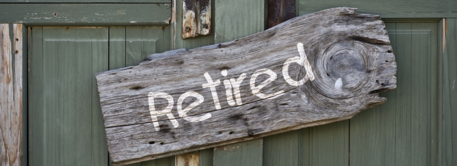 retired sign