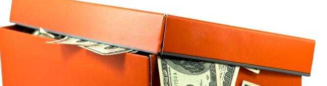 Shoebox full of money