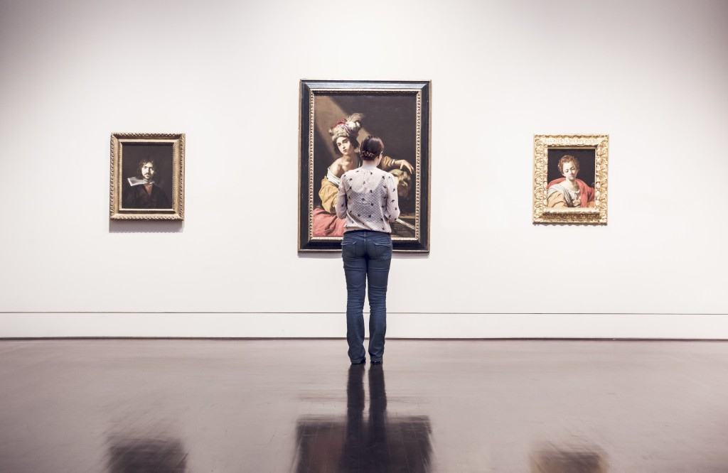 woman in gallery