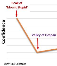 Dunning Kruger graph