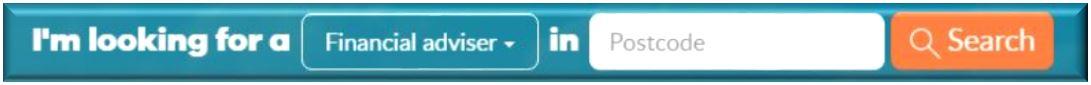 Financial adviser search button