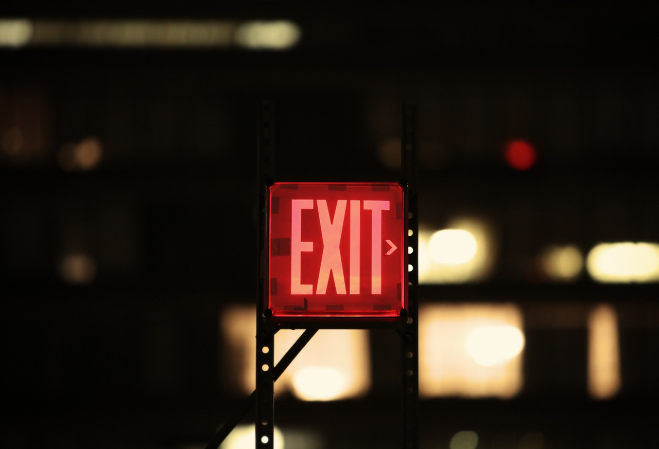 red-exit-sign